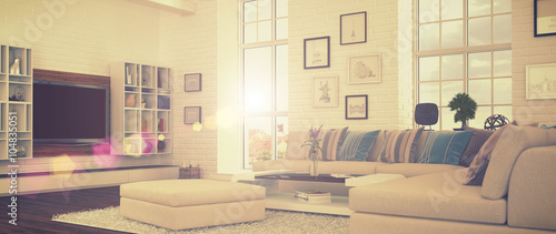 Modernes Wohnzimmer Retro Style Shot 41 Buy This Stock