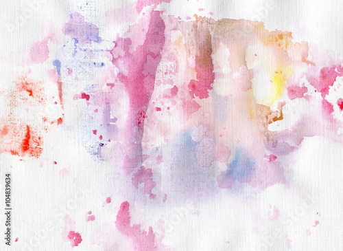 Watercolor background for your design. Painting on paper. Canvas Print