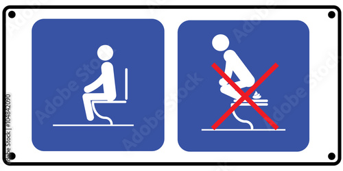 Toilet rules stickers set - Buy this stock vector and explore