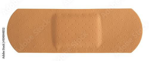 Photo Single adhesive bandage on white background