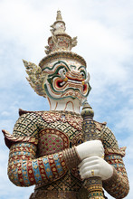 Mythical Giant Guardian At Wat Phra Kaew, Bangkok