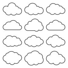 Cloud Shapes Collection. Set O...