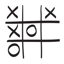 Hand Drawn Tic Tac Toe Vector ...