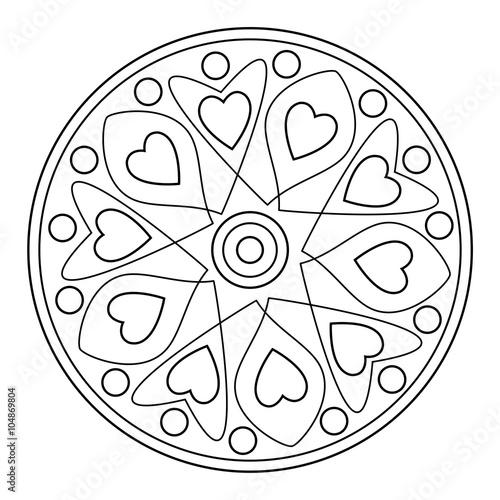 Mandala (Malvorlage) – kaufen Sie diese Illustration und finden Sie ...