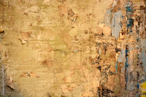 Canvas Prints Old dirty textured wall Torn posters