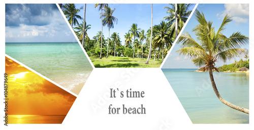 Obraz Beautiful vacation collage - fototapety do salonu