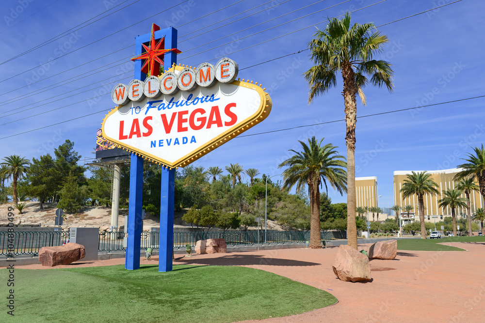 Foto  Las Vegas Welcome Sign, Nevada
