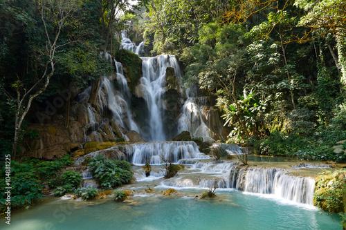 Fotografie, Obraz  Kuang Si Waterfall, Luang Prabang, Laos