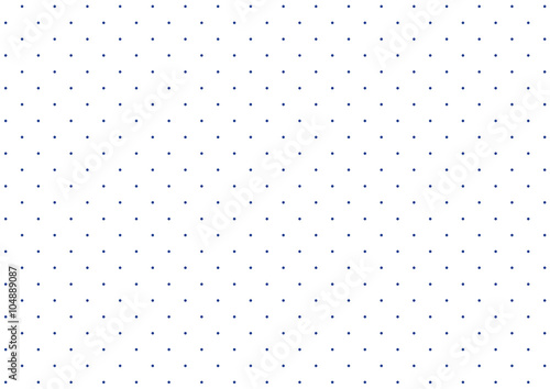 Photo  Simple polka dot pattern of white and blue dots background