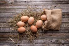 Brown Hen's Eggs
