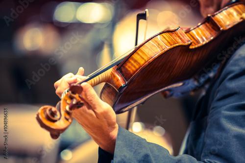 Fotomural violon classique instrument musique violoniste corde musicien