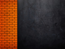 Concrete Wall With Brick Templ...