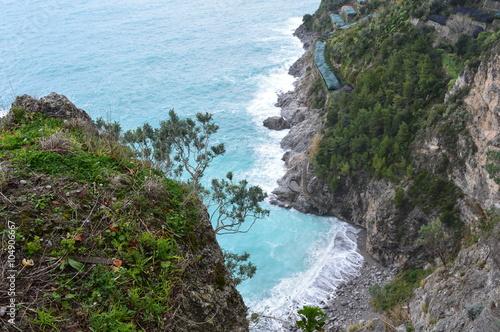 Fotografie, Obraz  Petite plage inaccessible sur le côte amalfitaine
