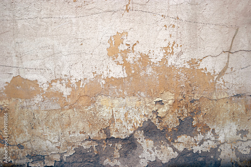 Fotoposter Oude vuile getextureerde muur old dirty textured wall background, toned image, film colorized