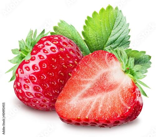 Foto op Aluminium Vruchten Strawberries on the white background.