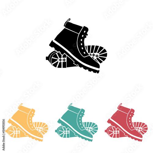 Fotografía  working boots icon