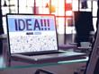 Idea Concept on Laptop Screen.