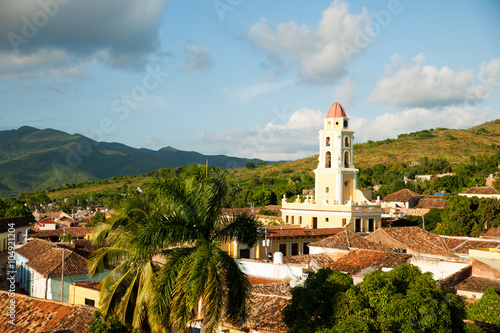 Famous Cuban city Trinidad with old church tower Convent of Sain Wallpaper Mural