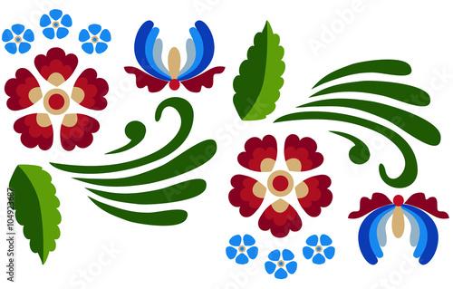 Fotografija  Floral folk ornament