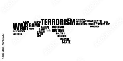Fotomural Terrorism Word Cloud