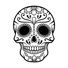 Vector Illustration Of Skull T...