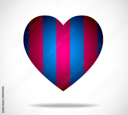 Niebiesko - granatowe serce. Wersja ilustracji 10.