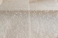 """Detalle De Texto De Periódico Antiguo -  Textos De Periódico O Diario Antiguo , En Francés. Original De Periodico  Frances Del Año 1925 Titulado """"Le Temps """". Periódico Desaparecido En El Año 1942)"""