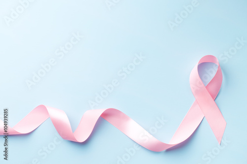 Stampa su Tela pink ribbon, breast cancer awareness symbol