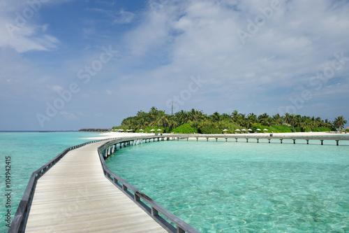 fototapeta na ścianę Beautiful beach with jetty