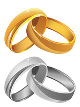 Gold & Silver Wedding Rings