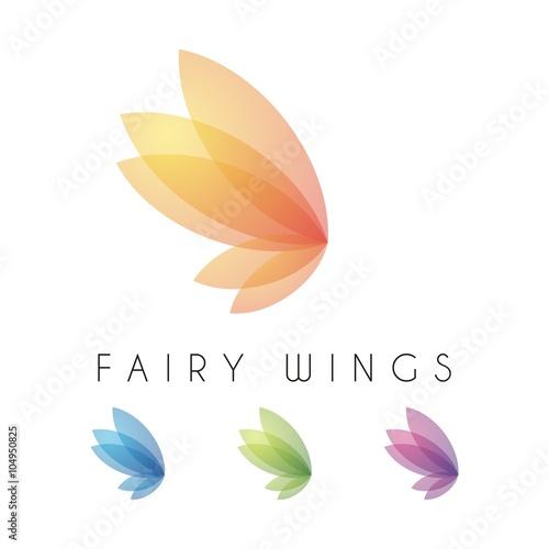 Fotografie, Tablou  Fairy Wings Feminine Design Vector Logo