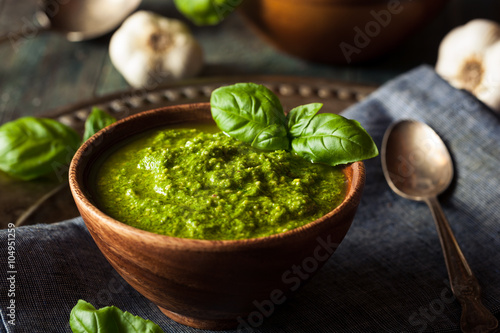 Raw Organic Green Pesto Fototapeta