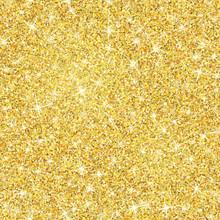 Gold Glitter Texture With Spar...