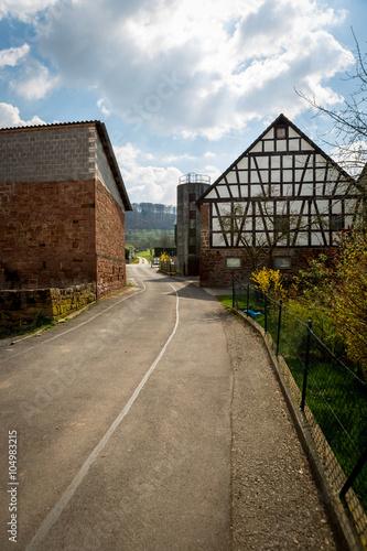 Papiers peints Les vieux bâtiments abandonnés back country road