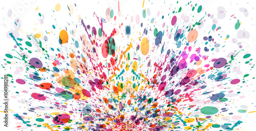 abstract color splash banner background design buy this stock