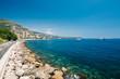 Scenic view of bay marine city quay of Monte Carlo, Monaco.