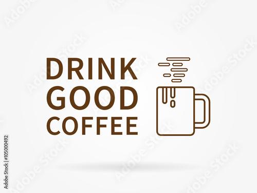 Fotografie, Obraz  Pít dobrou kávu