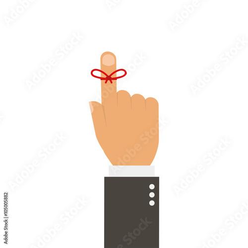 Fotografía  Reminder string poster on a white background