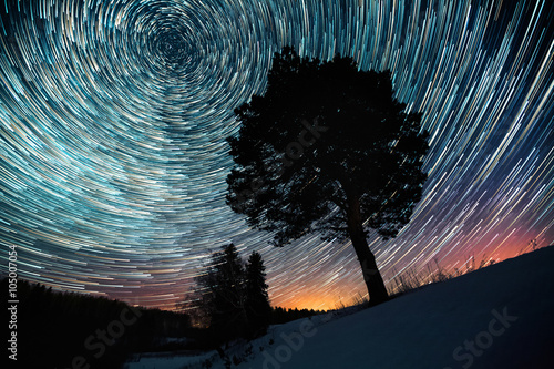 Star trails Lerretsbilde