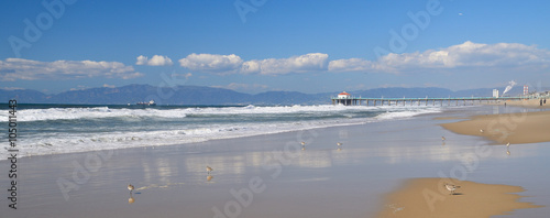 Foto op Canvas Los Angeles Los angeles beach side side view