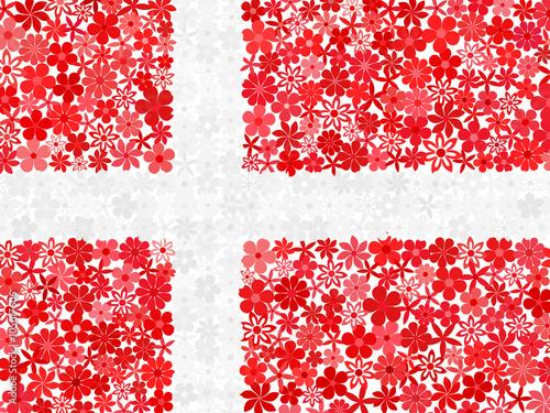 Wallpaper Mural Floral mosaic Danish flag