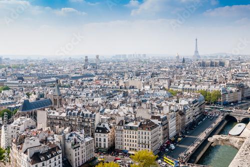 Papiers peints Paris Top view from Notre Dame Cathedral in Paris, France.