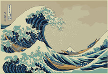 The Big Wave Off Kanagawa - Hokusai