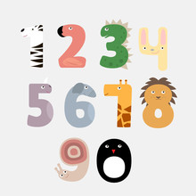Сartoon Numbers Like Animals