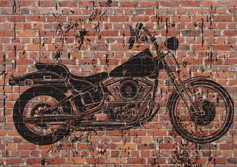 Obraz na SzkleMoto sportster grunge