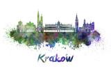 Kraków panoramę w akwareli - 105026859