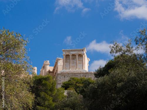 Fotografija  The Temple of Athena Nike on the Acropolis of Athens in Athens, Greece