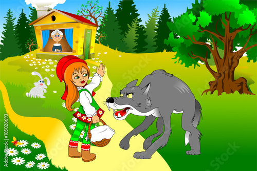red riding hood and her grandmother