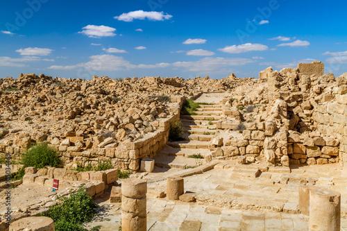 Poster Ruine Ruins of the ancient Nabataean Town Shivta