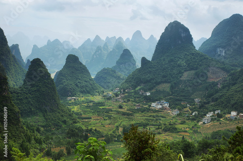 Foto op Aluminium Guilin Karst mountains around Yangshuo